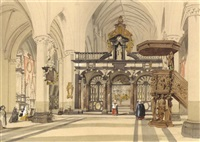 the interior of the church of st. jacques, bruges by charles everett