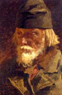 portrait of an old peasant by nikolai alexeievich kasatkin