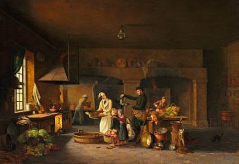 the kitchen in odense castle by christoffer faber