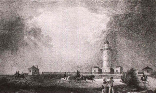 vue du phare du port jackson by jean baptiste arnout