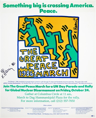 the great peace march by keith haring