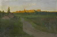 landscape with a road by andrei nikolaevich shilder