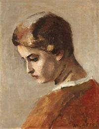 portrait de femme by maurice asselin