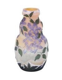 clematis cameo vase by émile gallé