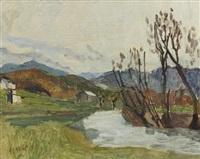 river landscape by earl haig
