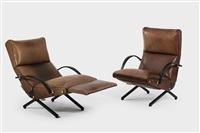 lounge chairs, model no. p 40 (pair) by osvaldo borsani