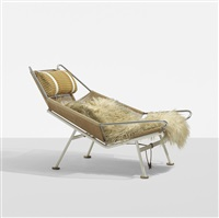 flag halyard lounge chair by hans j. wegner