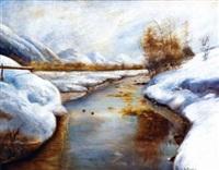 ruisseau dans la neige by george a. traver