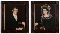abigail reynolds reed (+ philo reed of amenia, new york; pair) by ammi phillips