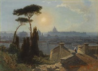 rome (from the trinita di monti) by karl august lindemann-frommel