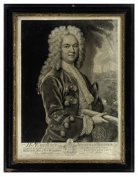 his excellency jonathan belcher esqr, captain general & governor in chief of his majesty's provinces of massachuset's bay (after r. phillips) by john faber the younger