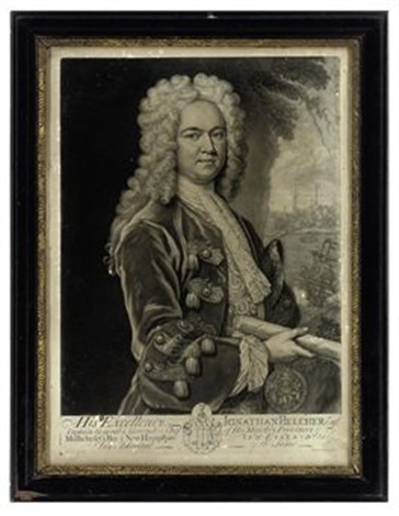 his excellency jonathan belcher esqr captain general governor in chief of his majestys provinces of massachusets bay after r phillips by john faber the younger