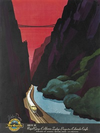 route of the royal gorge - california zephyr - prospector - colorado eagle by bern hill