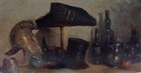 composition au casque, bicorne et haut de forme by charles-frédéric lauth