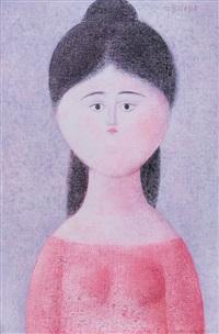 fanciulla in rosa by antonio bueno