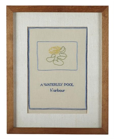 a waterlily pool harbour by ian hamilton finlay