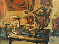abstract still life by charles kermit ewing