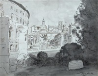 the theatre of marcellus, rome by adrian maurice daintrey