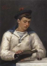portrait eines jungen mannes im matrosenanzug by louis augustus sargent