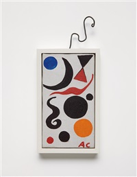 composition with blue sphere by alexander calder