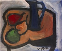 still life with fruit and jug by george dunne