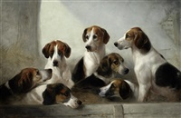 favorite hounds, the property e. walter greene esq, master of the suffolk hounds by edward robert smythe