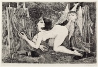 der spiegel des dorian gray (portfolio of 6) by helmut leherb