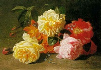 still life with summer flowers by albert raoux