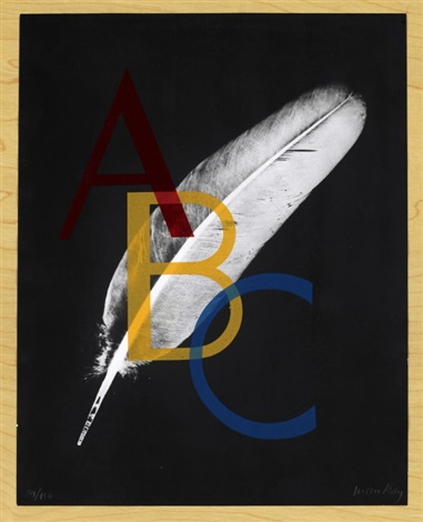 alphabet pour adultes set of 39 by man ray