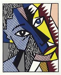 head (from expressionist woodcut) by roy lichtenstein