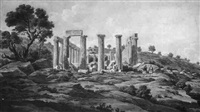 temple of apollo epicurius on m. cotyluria in arcadia by edward dodwell