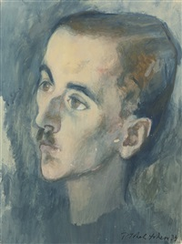 male portrait by pavel tchelitchew