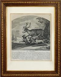 jagdszenen (3 works) by johann elias ridinger