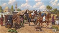 orientalische marktszene by leszek piaseck