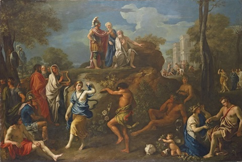 aeneas seeking the counsel of anchises in hades by alexandre ubeleski