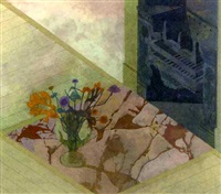 still life on a herth by leonard rosoman
