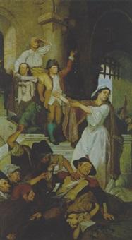 die erstürmung der bastille by w. leon leinburg