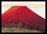 red mt. fuji by misao yokoyama