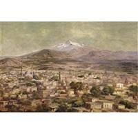 view of bursa, turkey by halid naci