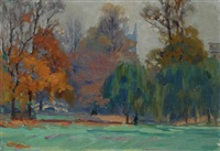 park in autumn by nora gurdon
