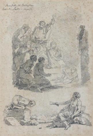 la résurrection de lazare after benedetto castiglione by jean honoré fragonard
