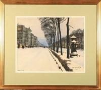 bulwar w śniegu by odo (otton) dobrowolski
