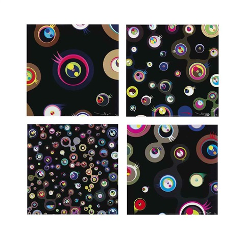 jellyfish eyes black 1 and other prints 4 works by takashi murakami