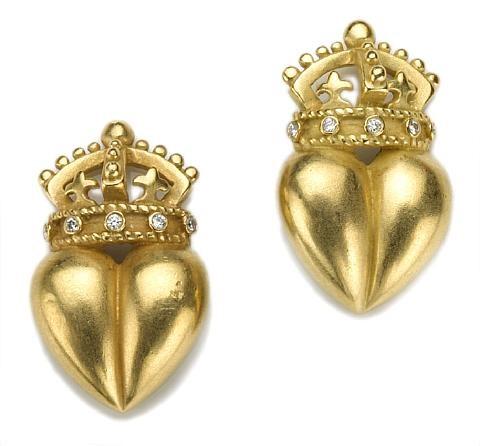 a pair of earrings by kieselstein cord