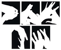 hands 1-5 (5 works) by james welling