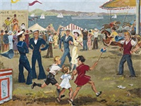 regatta day, hobart by betty armstong