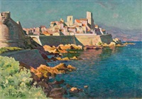 vue d'antibes, le fort carré by antoine ponchin