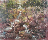 landscape with stream by hal robinson