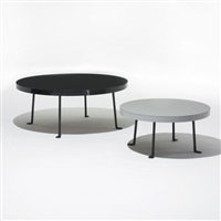 pair of nesting tables for the helstein house, chicago by bertrand goldberg