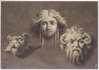 studies of three antique heads by giocondo albertolli